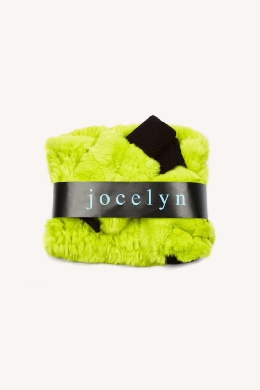 Jocelyn Cowl & Mitten Set - Neon Yellow Accessories