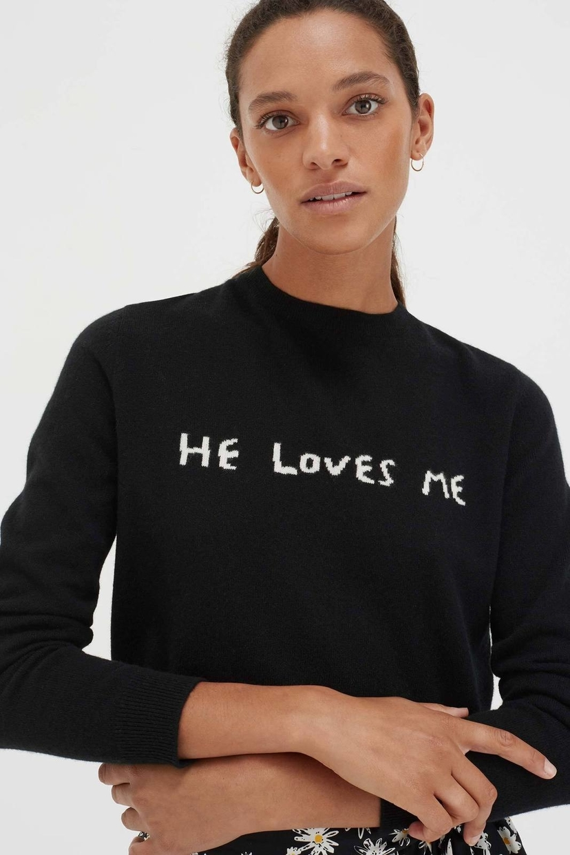 Chinti and Parker He Loves Me Sweater Tops