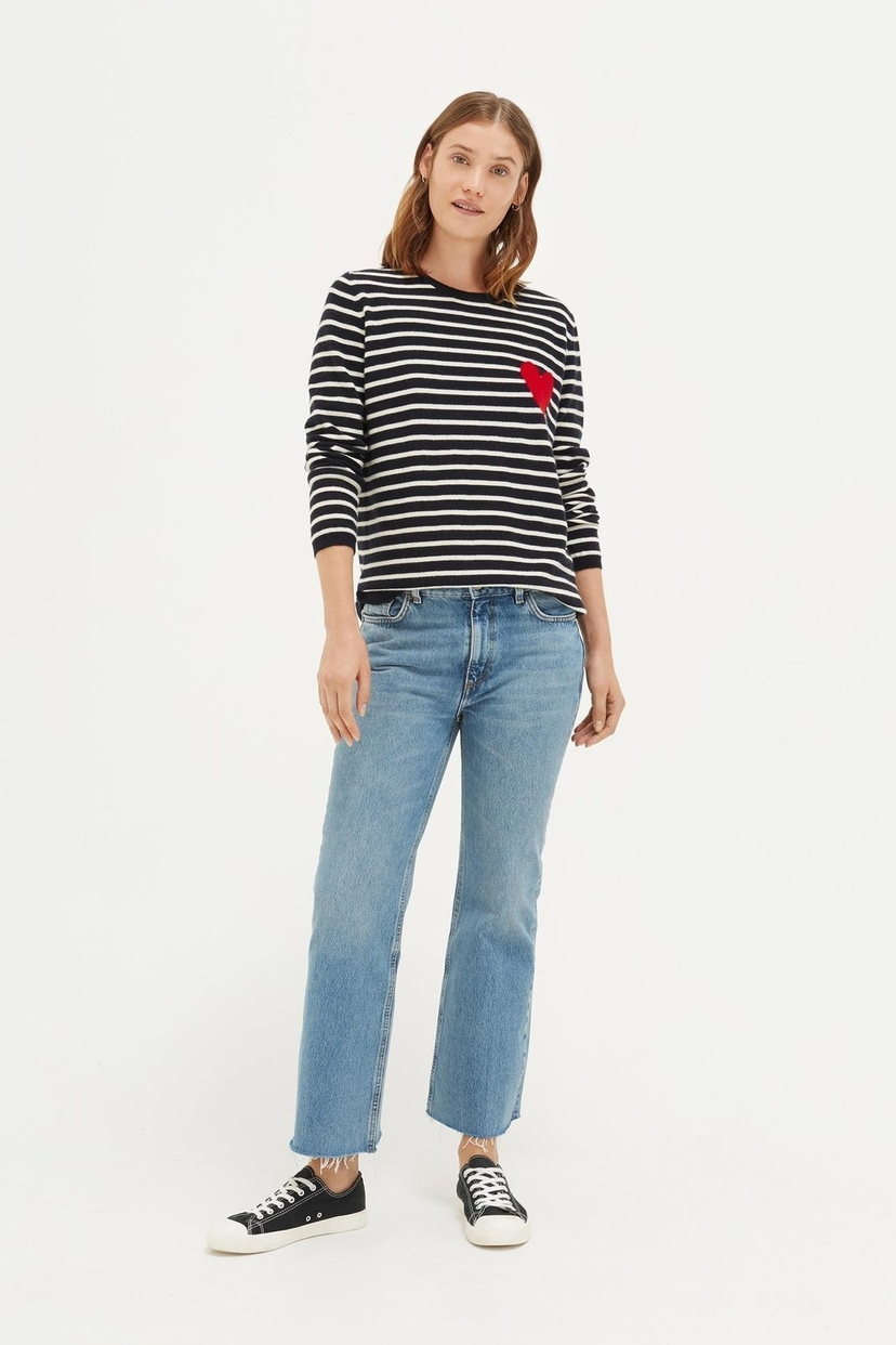 Chinti and Parker Breton Heart Sweater Tops