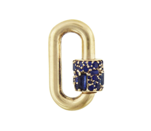 Marla Aaron Mixed Blue Sapphire Medium Chubby Lock Jewelry
