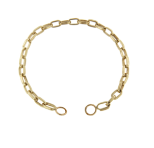Marla Aaron Yellow Gold Biker Chain Bracelet Jewelry