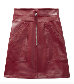 Rebecca Taylor Leather Skirt - Spice Skirts