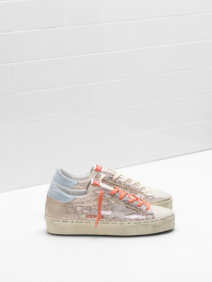 Golden Goose Deluxe Brand High Star - Gold Lizard Ice Shoes