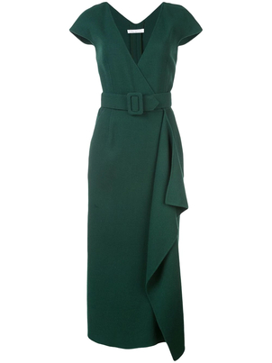 Oscar de la Renta V-Neck Pencil Dress Dresses
