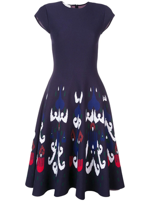 Oscar de la Renta Ikat Knit Dress Dresses