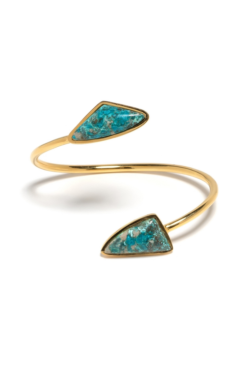 Lizzie Fortunato Atlas Cuff In Teal Jewelry