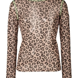 Sandy Liang - Promise Leopard Mesh Top