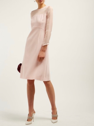 GOAT Flavia wool-crepe midi dress Dresses