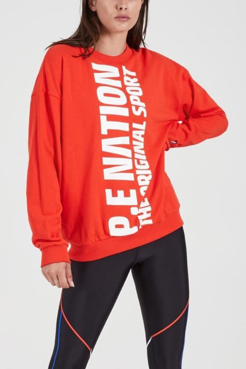 b83b350fd997c5 PE Nation Amped Up Sweat - Red Activewear