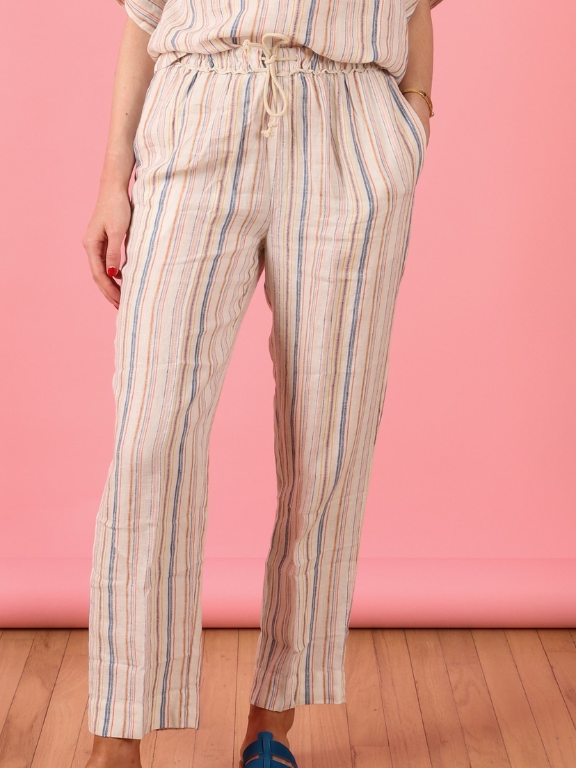 Trovata Penny Drawstring Pant-Multi Stripe Pants Sale