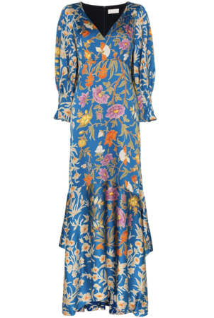 Peter Pilotto V-Neck Botanical Dress Dresses