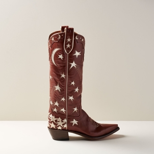 Miron Crosby Margretta Tall Star Boot in Caramel and Champagne Shoes