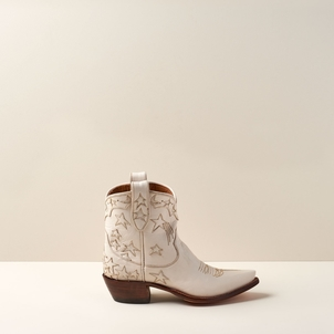 Miron Crosby Brooke Short Boot in Creme Shoes