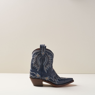 Miron Crosby Maggie Short Boot in Navy Shoes