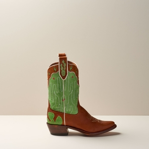 Miron Crosby Paty Mid Boot in Sienna and Cut Grass Shoes