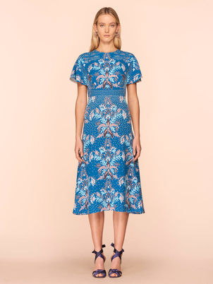 Peter Pilotto Printed Waffle T-Dress in Marine Dresses