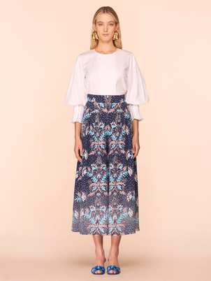 Peter Pilotto Cotton Pleated Blouse in White Tops