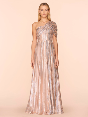Peter Pilotto Silver One Shoulder Gown Dresses