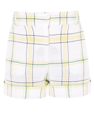 Veronica Beard Carito Plaid Shorts Shorts