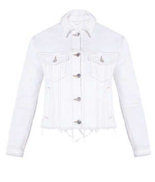 Veronica Beard Cara Jean Jacket with Removable Hoodie Outerwear