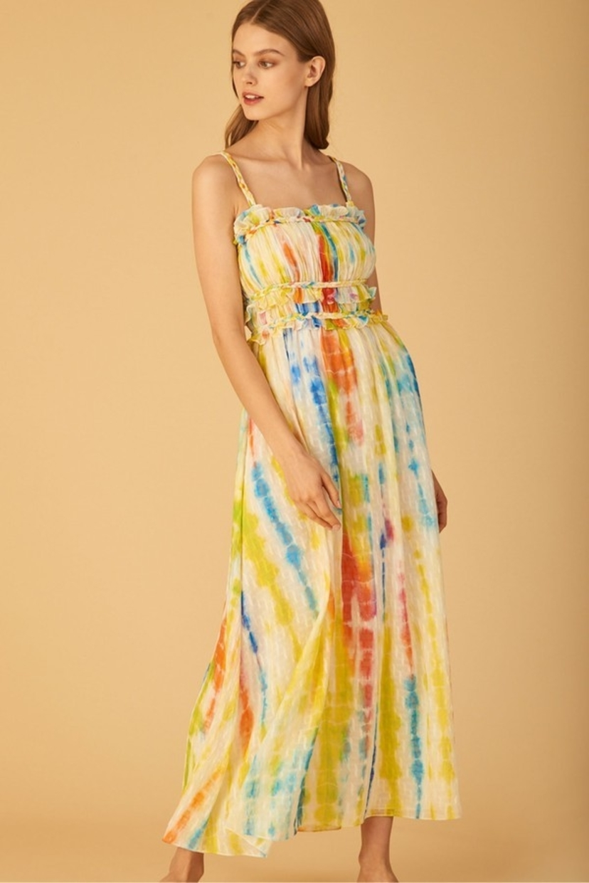 Tanya Taylor Honor Dress - Tie Dye Dresses Sale