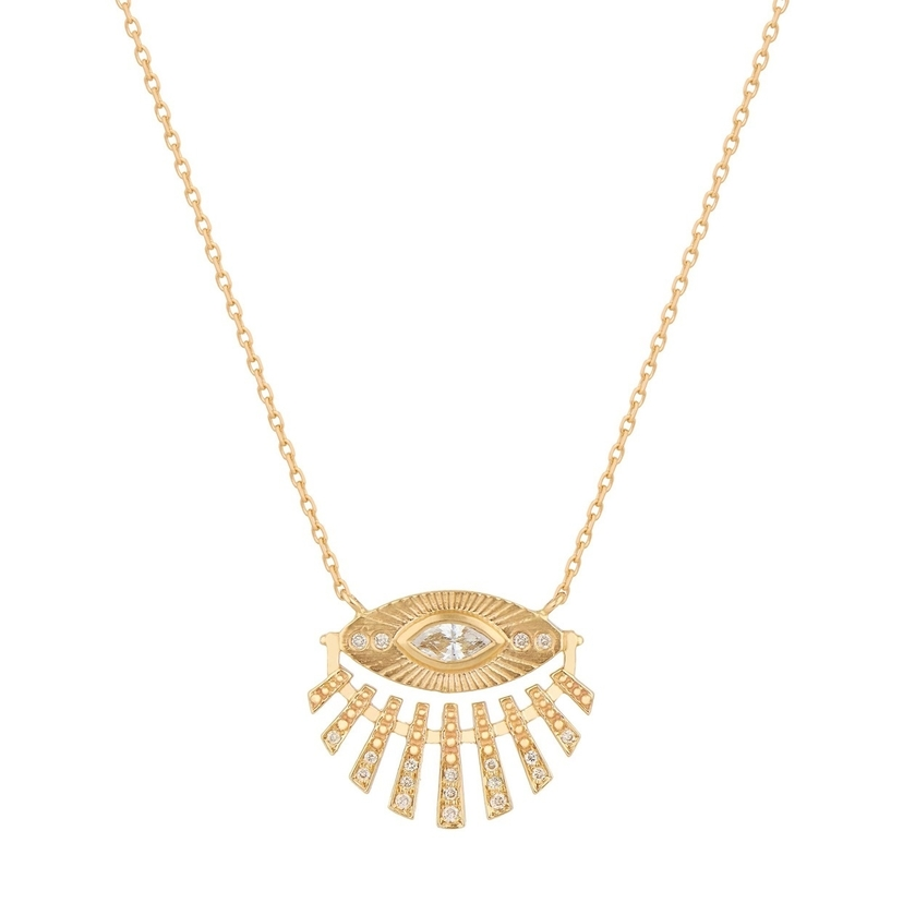Celine Daoust Aztek Protection Sun Necklace Jewelry