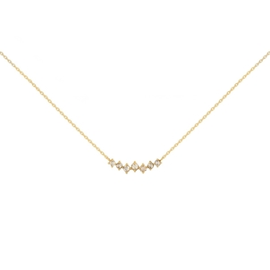 Celine Daoust Twisted Diamonds Chain Necklace Jewelry