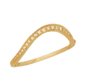 Celine Daoust Simple Wave and Diamonds Ring Jewelry