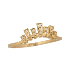 Celine Daoust Irregular Crown and Diamonds Ring Jewelry