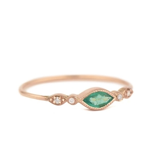 Celine Daoust Emerald Marquise Ring  Jewelry