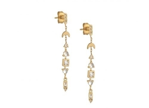 Celine Daoust Totem Moonstones and Diamonds Earrings Jewelry