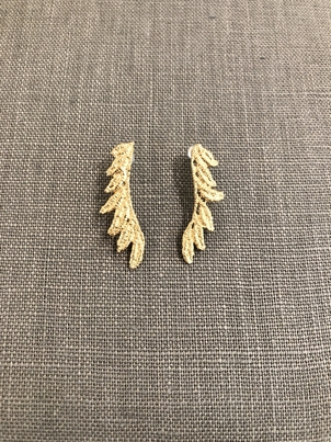 Gabrielle Jewelry 14k yellow gold feather earring Jewelry