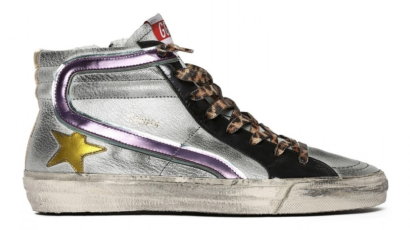 Golden Goose Deluxe Brand Slide - Rainbow Laminated Leather Shoes