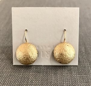 Gabrielle Jewelry 14k Yellow Gold Canvas Disc on Drop Jewelry
