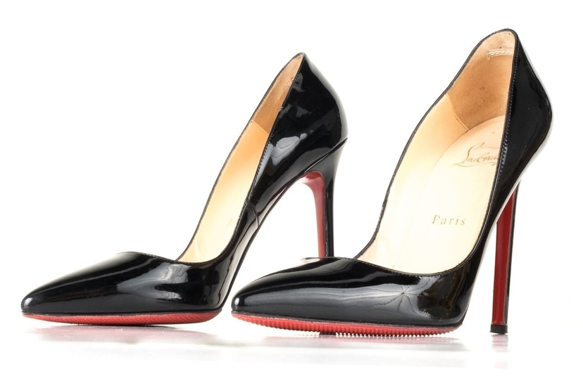 outlet store 4dc1b 50940 Christian Louboutin Black Patent Pigalle 120 Pumps 36