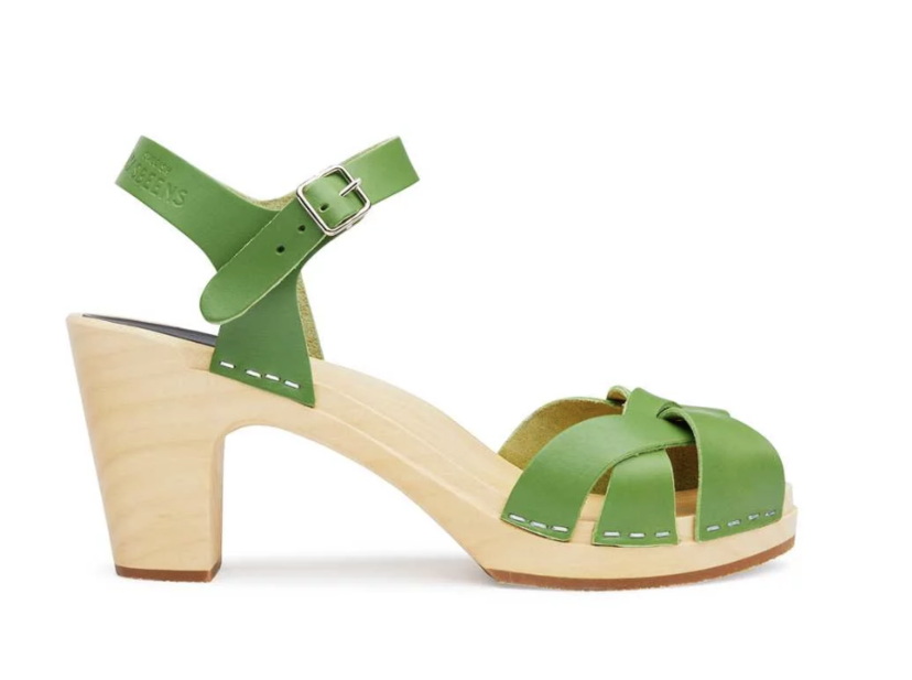 0bb19d40475 Swedish Hasbeens Kringlan Sandal in Grass Green Shoes
