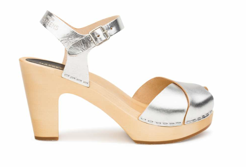 Swedish Hasbeens Merci Sandal in Silver Shoes