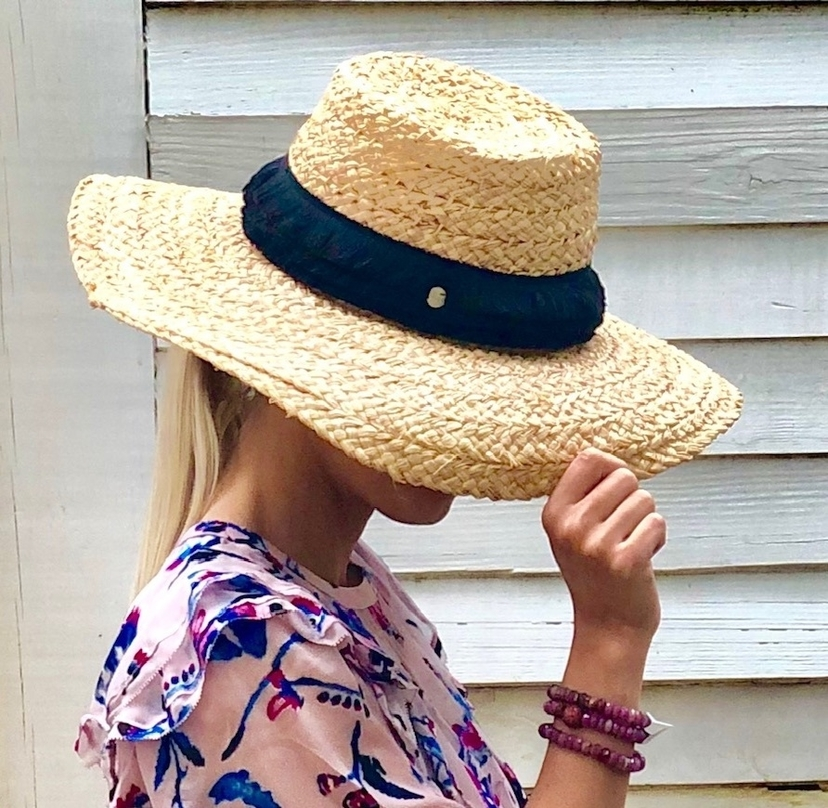 Straw Hat with Band Accessories