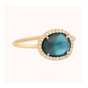 Celine Daoust Stella Tourmaline Ring with Yellow Gold Jewelry