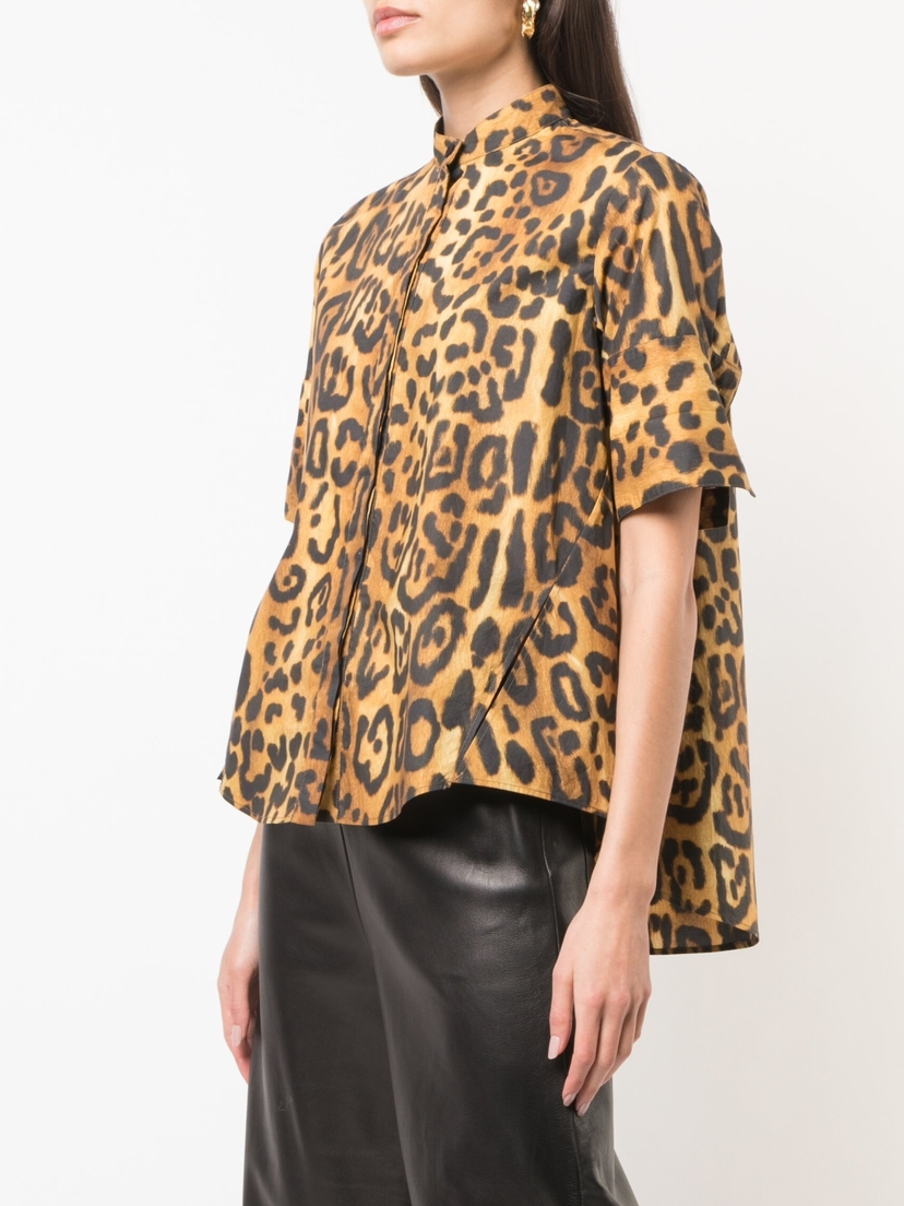 Adam Lippes Printed Trapeze Top Tops
