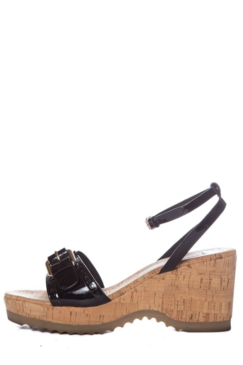 277fefa9993d Stella McCartney Stella McCartney Black Patent Wedge SZ 37.5 Shoes