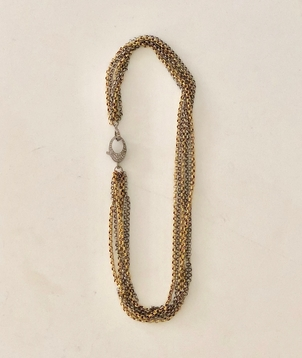 The Woods Fine Jewelry Short Two-Tone Chain Jewelry