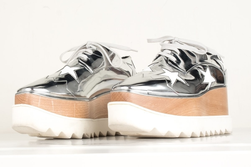 Stella McCartney Stella McCartney Silver Metallic Platform Eylse Oxford 36.5 Shoes