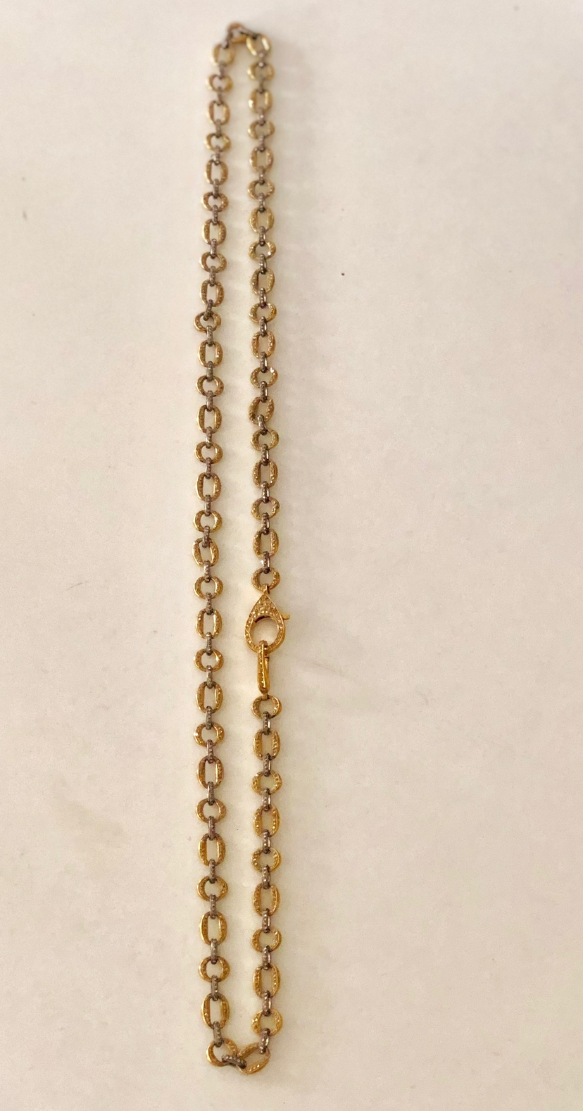 The Woods Fine Jewelry Long Two-Tone Pave Diamond Link Necklace Jewelry