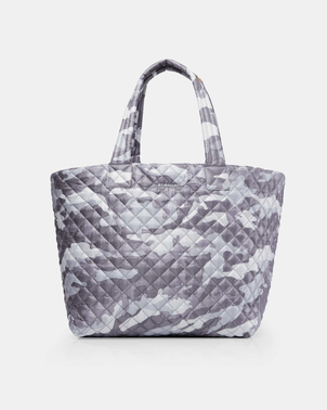 Mari Max Large Quilted Metro Tote - Grey Camo Bags