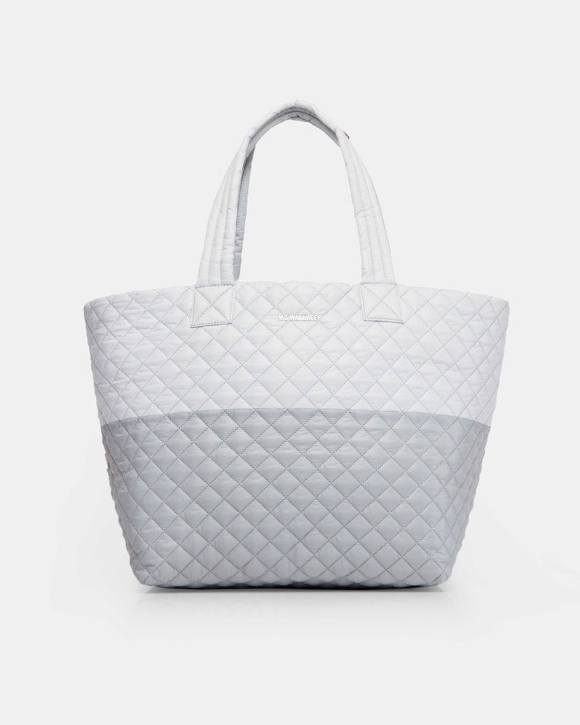Mari Max Large Quilted Metro Tote - Mist/Grey Bags