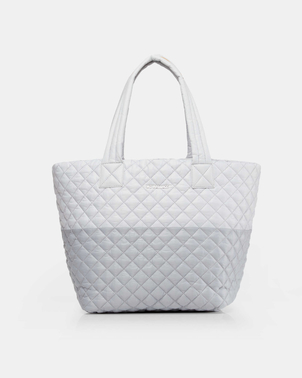 Mari Max Medium Quilted Metro Tote - Mist/Grey Bags