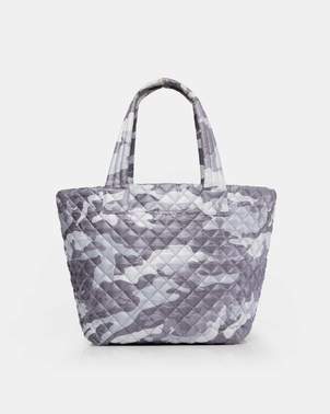Mari Max Medium Quilted Metro Tote - Grey Camo Bags