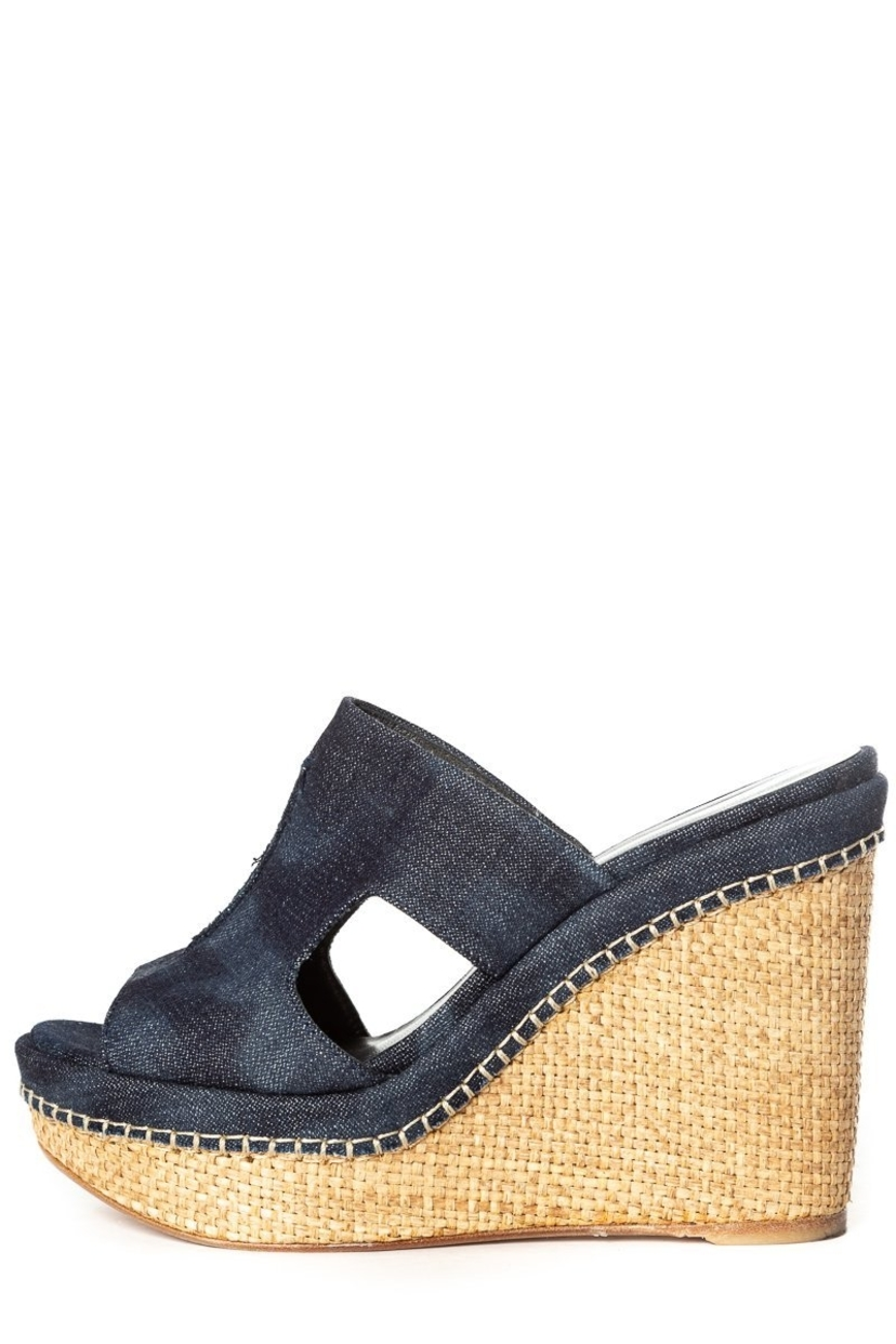 Stuart Weitzman Stuart Weitzman 8.5 Denim Wedge Sale Shoes