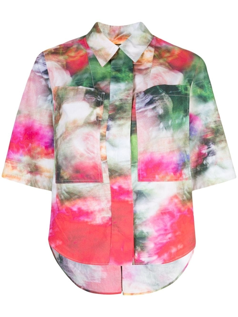Adam Lippes Adam Lippes - Camp Printed Cotton Shirt Tops